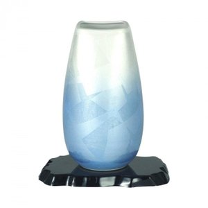 九谷焼 宗秀作 9号花瓶 二色銀彩 N169-09|san-choku
