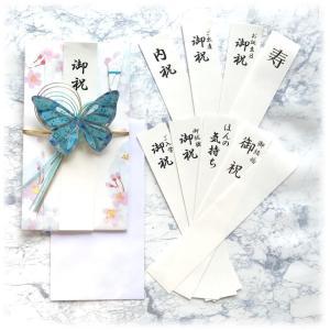 アクセサリーご祝儀袋 金封 VAEL(ヴァエル)キュート ブルー 後で飾れる蝶々のアクセサリー san-smile