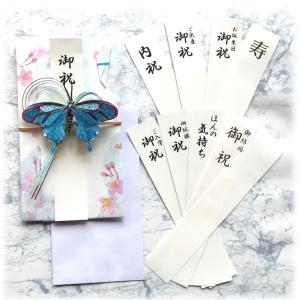 アクセサリーご祝儀袋 金封 VAEL(ヴァエル)リアル ブルー 後で飾れる蝶々のアクセサリー san-smile
