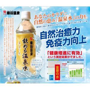 金泉の水 猿投温泉  飲める天然温泉水 500mlペットボトル×24本|sanageonsen
