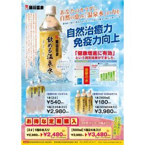 金泉の水 猿投温泉  飲める天然温泉水 500ml 24本×2ケース 3ヶ月間 定期購入コース3,000円お得|sanageonsen
