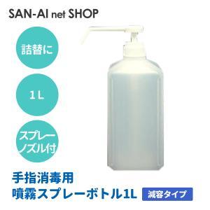 手指消毒用スプレーボトル1L 減容タイプ
