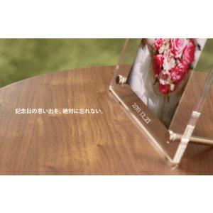 名入れフォトフレーム(L判用・アクリルクリア)縦or横置き選択可 結婚祝い 長寿祝 /写真立て|sanasana|03