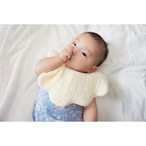 スタイ/なみなみ/offtone baby/綿100%/日本製/出産祝い/ピンク/イエロー/グリーン/calmland sanbyoshi-calm