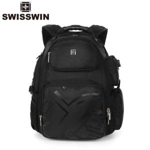 swisswin リュック リュックサック メンズ 大容量 通学 ビジネス 通勤 アウトドア 旅行 遠足 登山 リュック バックパック デイパック SW09810|sancai