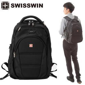 swisswin リュック リュックサック メンズ レディース 通学 大容量 ビジネス 通勤 アウトドア 旅行 登山 リュック デイパック バックパック SW9207|sancai