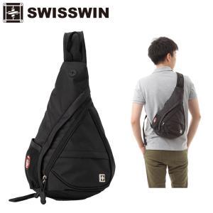swisswin ボディバッグ ショルダーバック 男女兼用 アウトドア 旅行 遠足 ワンショルダー バッグ かばん 肩掛け 斜め掛け 斜めがけバッグ SW9966|sancai