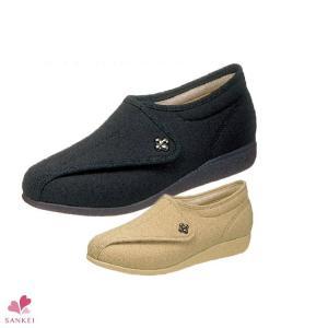 婦人用介護シューズ(L011)(22.5/23.0/23.5/24.0cm)(快歩主義)介護/介護用/介護靴/靴/レディース/日本製/高齢者用靴/ケアシューズ/お年寄り|sancha