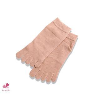 5足組五本指靴下(22-25cm)日本製 靴下 5本指 冷え性 冷え取り 口ゴムゆったり 天然素材|sancha