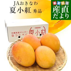 沖縄県より産地直送 JAおきなわ 新品種マンゴー 夏小紅(なつこべに)2Lから4Lサイズ 秀品 約2キロ (4玉から5玉入) 送料無料|sanchimarugotoouen