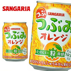 サンガリア つぶつぶみ オレンジ 280g缶×24本入|sanchoku-support