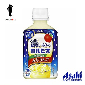 アサヒ カルピス 濃いめのカルピス 青森県産ふじりんご 280mlPET×24本入 CALPIS sanchoku-support