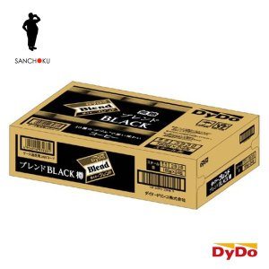 【4ケースまで1個口分の送料】ダイドー ブレンド ブレンドブラック 樽 185g缶×24本入 DyDo Blend BLACK|sanchoku-support