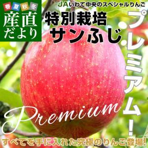岩手県より産地直送 JAいわて中央 プレミアム サンふじりんご 特秀品 5キロ(14玉から18玉) 林檎 リンゴ  送料無料|sanchokudayori
