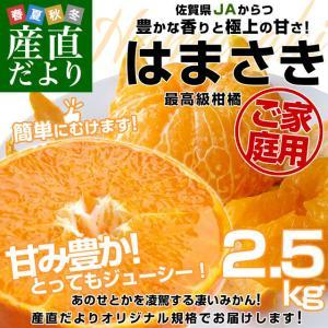 佐賀県より産地直送 JAからつ はまさき ご家庭用 ちょっと訳あり LからSサイズ 約2.5キロ (12から18玉前後)  送料無料 柑橘 オレンジ みかん|sanchokudayori