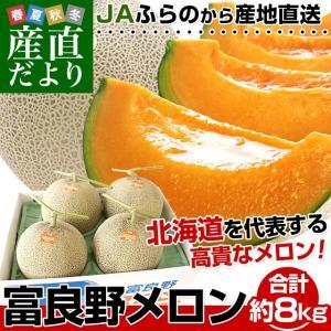 送料無料 北海道から産地直送 JAふらの 富良野メロン 優品...