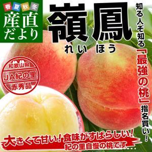 和歌山県より産地直送 JA紀の里 紀の里の桃 嶺鳳 赤秀品 1.8キロ (6玉から8玉) 送料無料 桃 もも|sanchokudayori
