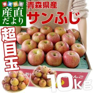 年末特別価格 青森県より産地直送 青森県産のサンふじりんご 約10キロ(28から36玉前後)|sanchokudayori