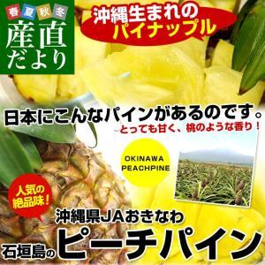 沖縄県JAおきなわより産地直送します。  商品名:パイナップル(ピーチパイン3玉) 内容量:約1.8...
