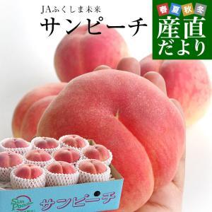 送料無料 福島県より産地直送 JAふくしま未来 最高級ブランド桃「サンピーチ」 3キロ(10から12玉) 桃 もも|sanchokudayori