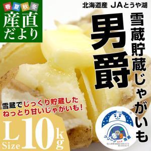 北海道より産地直送 JAとうや湖 雪蔵貯蔵じゃがいも (男爵) Lサイズ 10キロ  送料無料 芋 ジャガイモ 馬鈴薯 sanchokudayori
