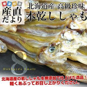 北海道から直送 北海道産 高級珍味 本乾ししゃも 8袋セット (25g×8P) 送料無料 柳葉魚 シシャモ|sanchokudayori