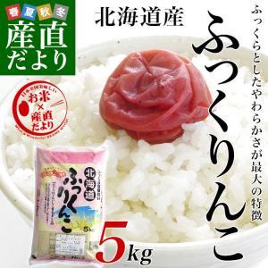 平成29年産 北海道産 ふっくりんこ 5キロ お米 北海道米|sanchokudayori