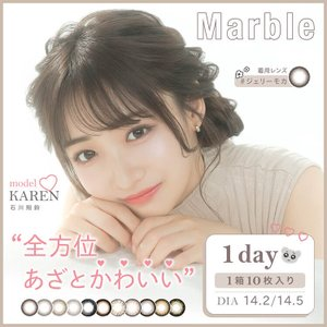 カラコン マーブル 1day 14.5mm 藤田ニコル marble 2箱20枚入り 度あり 1da...