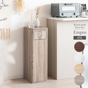 ゴミ箱だと分かりにくいスタイリッシュなデザインでお部屋に馴染む、木製プッシュ式ダストボックス。 臭い...