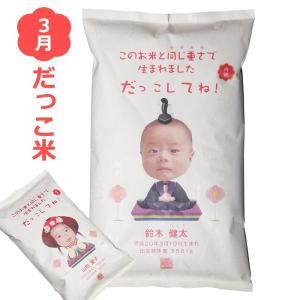 出産内祝い だっこ米 季節デザイン(3月桃の節句) 出産内祝い米 平成29年度産コシヒカリ 出生体重米/宅配便 送料無料/|sancyokubin