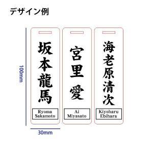 ゴルフ 角型 ブラック ネームプレート<同一内容2個セット>/メール便 送料無料/|sancyokubin|04