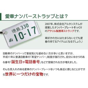 裏面メッセージ対応 特許ナンバープレートキーホルダー・ストラップ 普通車レイアウト/ネコポス 送料無料|sancyokubin|02