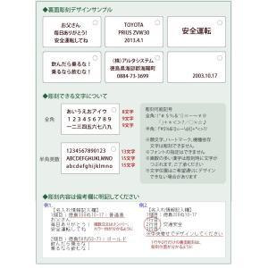 裏面メッセージ対応 特許ナンバープレートキーホルダー・ストラップ 普通車レイアウト/ネコポス 送料無料|sancyokubin|03