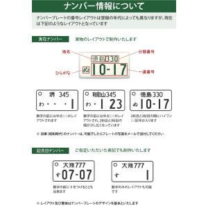 愛車ナンバープレートストラップ(クリア)普通車レイアウト/メール便 送料無料/ sancyokubin 05