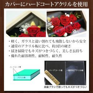 還暦祝い 赤いバラ6輪 桐箱ケース プリザーブドフラワー/送料無料/名入れゴールドプレート付き 60歳長寿祝いプレゼント|sancyokubin|06