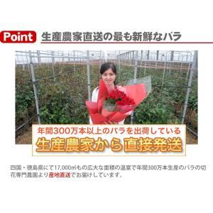 還暦祝い 60本の赤いバラの花束 50cm 無料ラッピング /宅急便 全国送料無料/【母の日前後お届け不可】|sancyokubin|03