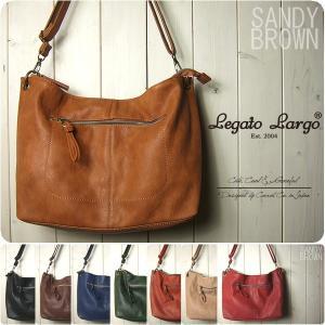 ショルダーバッグ レディース メンズ ラム革風シンプル Legato Largo ミニバッグ|sandybrown
