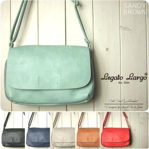 Legato Largo レガートラルゴ ショルダーバッグ レディース リッチツートン10ポケット|sandybrown