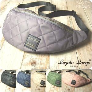 Legato Largo レガートラルゴ ボディバッグ レディース キルティング ナイロン|sandybrown