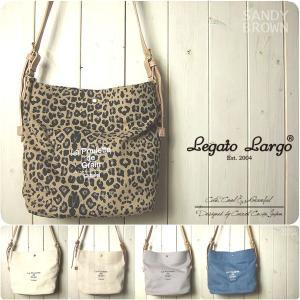 Legato Largo レガートラルゴ ショルダーバッグ レディース フレンチロゴ バケツ型ショルダー|sandybrown
