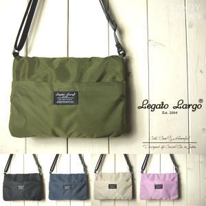 Legato Largo レガートラルゴ ショルダーバッグ レディース 撥水高密度ナイロン お財布ミニショルダーバッグ|sandybrown