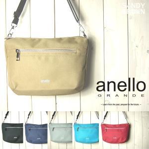 anello アネロ ショルダーバッグ レディース ポリエステルキャンバス ラウンドミニショルダー|sandybrown