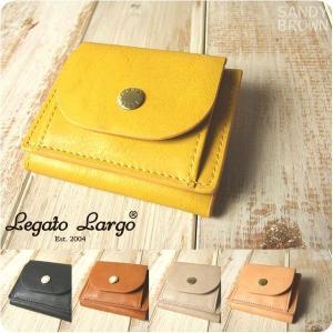財布 レディース 三つ折りミニ財布 アンティーク風フェイクレザー Legato Largo レガートラルゴ|sandybrown