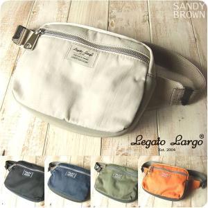 Legato Largo レガートラルゴ ボディバッグ レディース 撥水マットナイロンツイル ボディバッグ|sandybrown