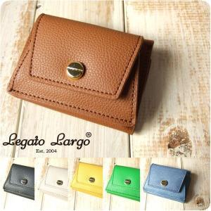財布 レディース 三つ折りミニ財布 ボンディンググレインフェイクレザー Legato Largo レガートラルゴ|sandybrown