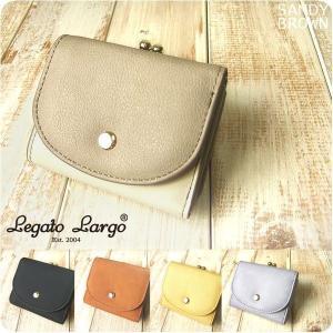 財布 レディース 三つ折りミニ財布 プランプフェイクレザー がま口 Legato Largo レガートラルゴ|sandybrown