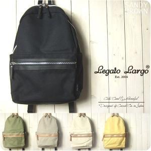 Legato Largo リュック レディース 撥水加工キャンバス 10ポケットリュック レガートラルゴ|sandybrown