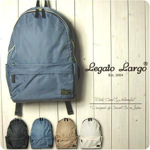 Legato Largo リュック レディース 撥水高密度ナイロン ポーチ付き 10ポケットリュック レガートラルゴ|sandybrown
