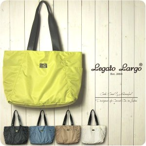 Legato Largo レガートラルゴ トートバッグ レディース 撥水高密度ナイロン ポーチ付き 10ポケット トートバッグ|sandybrown