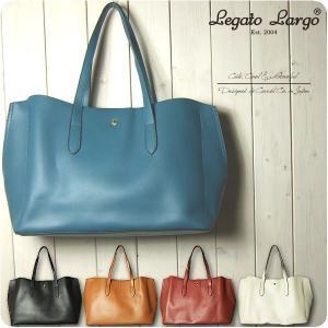 Legato Largo レガートラルゴ トートバッグ レディース 軽量 ボンディングフェイクレザー A4 トートバッグ|sandybrown